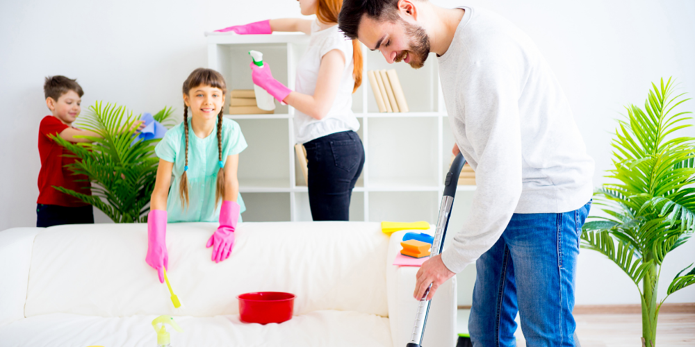 Cleaning hacks for busy families